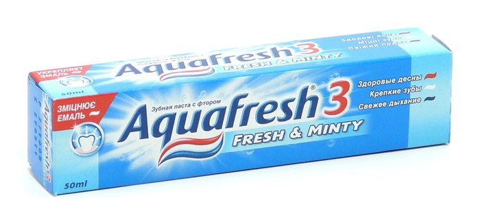 AQUAFRESH TOTAL Зубная паста 50ml  Fresh Mint