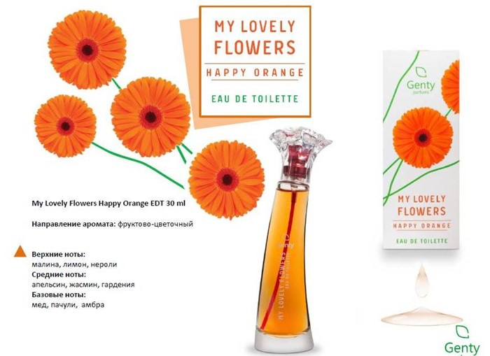 LOVELY FLOWERS HAPPY ORANGE 30ml/жен.