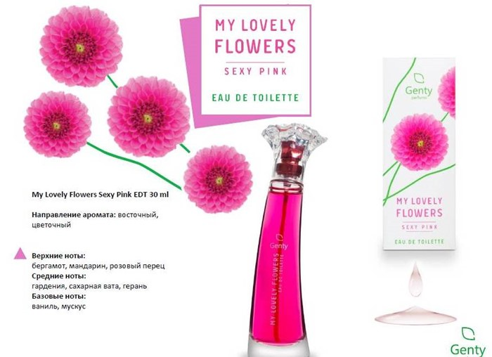LOVELY FLOWERS SEXY PINK 30ml/жен.