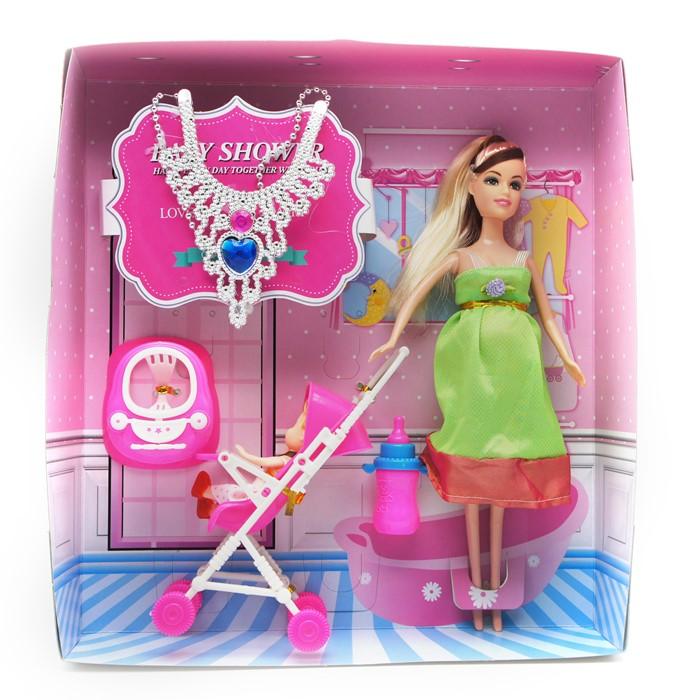 Кукла Беременная + дочка в коляске + аксессуары (набор) 32 ...